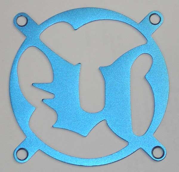 Lüftergitter Laser Cut Unreal 80x80mm
