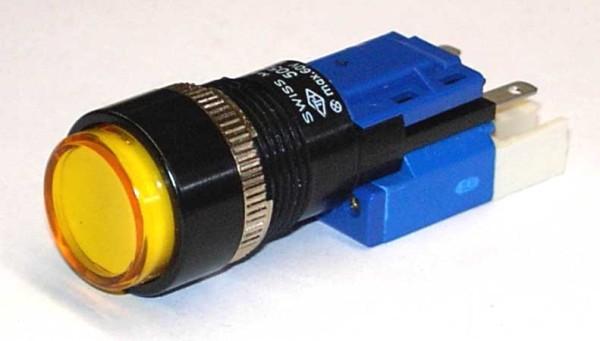 TH25 Signallampe, Ø=18, Frontrahmen gerade, Steckanschluss
