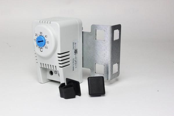 Thermostat Schließer mit Halterung 1 HE und Befestigungsclips