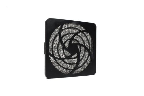 Lüfter Filter-Kit für Lüfter 80x80mm, Kunststoff, schwarz