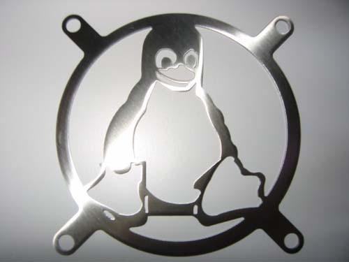 Lüftergitter Laser Cut Pinguin 120x120mm