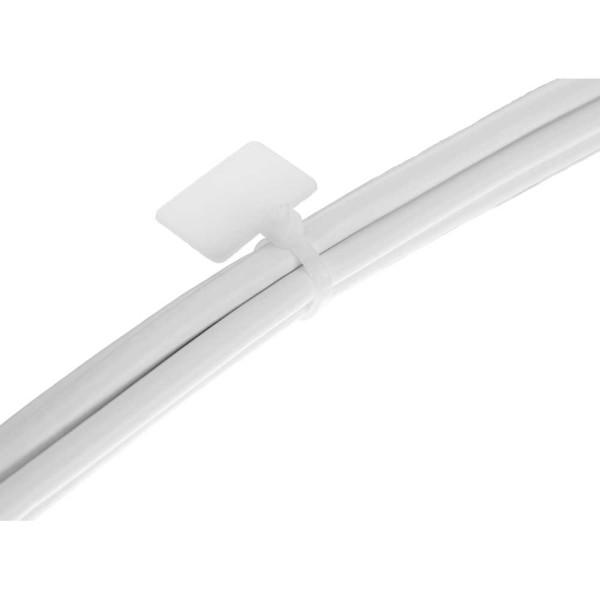 Kabelbinder mit Markierfeld aussen, Länge 200mm, Breite 3mm, 100 Stück