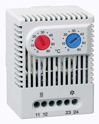 Zwillings-Thermostat ZR 011 (0 bis +60 °C) / Schließer (NO)/Schließer (NO)