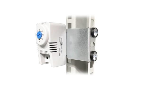 Thermostat Schließer mit Halterung 1 HE und Befestigungsmaterial