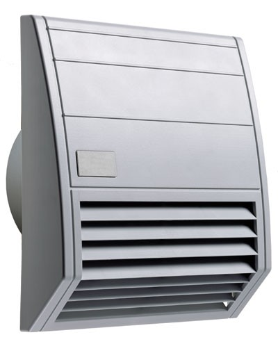 Wartungsfreundlicher Filterlüfter Serie FF 018, AC 120 V, 60 Hz, 117 m³/h, 176 x 176 mm