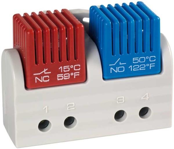 Zwillings-Thermostat FTD 011 Öffner 15 °C/59 °F (5 °C/41 °F) und Schließer 35 °C/95 °F (25 °C/77 °F)