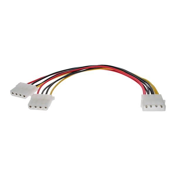 Internes Strom-Y-Kabel 25cm Buchse an 2x Stecker, 5,25'' auf 5,25''