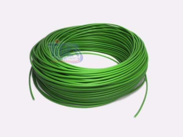 Drahtlitze 1x0,5mm², grün, Rolle m. 100m, H05V-K