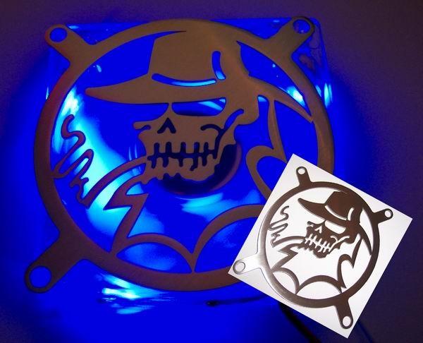 Lüftergitter Laser Cut Cool Skull 92x92mm