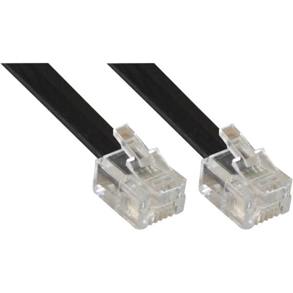 Modularkabel RJ12, Stecker / Stecker, 6adrig, 6P6C, 15m