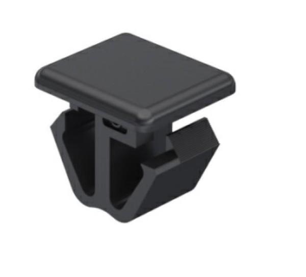 Polyamid Clip für (9,5)²mm Öffnung, Klemmbreich: 3,0 - 3,5mm