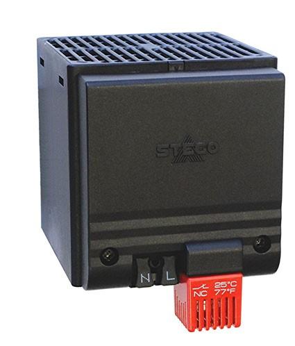 kompaktes Halbleiter-Heizgebläse, IP20 CSF 028 AC 120 V, 400 W, 15 °C (59 °F), Schraubflansch