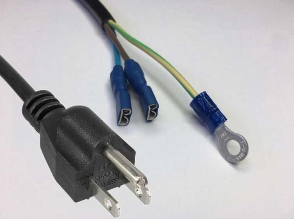 Netzkabel, Netzstecker Typ B USA auf FS+RS 2,0m AWG18
