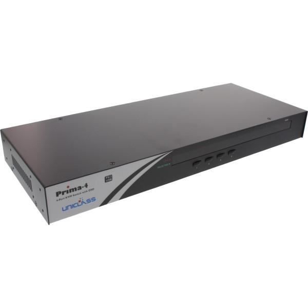 "KVM Switch, 4-fach, 48,26cm (19"") 1HE, USB oder PS/2, mit OSD"