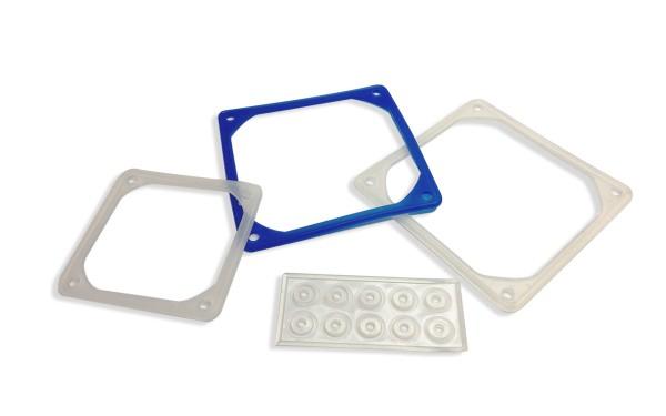 Vibrationsdämpfer für Kompaktventilatoren 60x60mm, Silikonmaterial