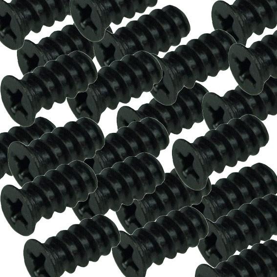 Lüfterschraube 5x10mm, 1000 St., schwarz / fan screw, black