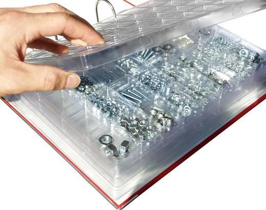 Leer-Sortimentsmagazin, transparent, Blisterstorage mit 10 Fächern