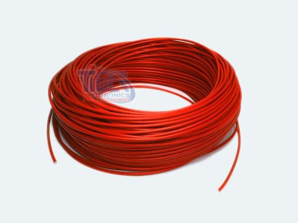 Drahtlitze 1x0,5mm², rot, Rolle m. 100m, H05V-K