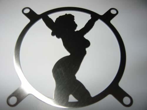 Lüftergitter Laser Cut Woman 92x92mm