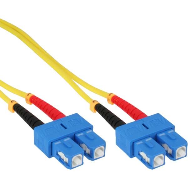 LWL Duplex Kabel, SC/SC, 9/125µm, OS2, 15m
