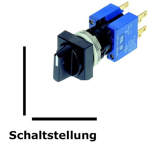 TH25 2-Stell.-Drehschalter, IP40, Ø=16,2mm