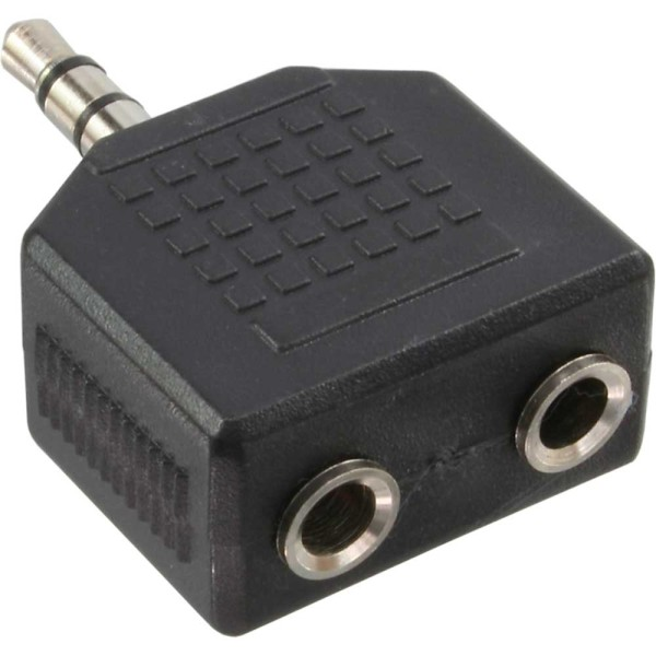 Audio Adapter, 3,5mm Klinke Stecker an 2x 3,5mm Klinke Buchse, Stereo