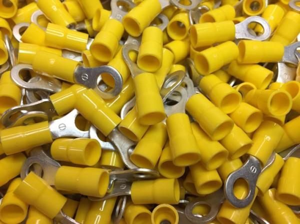Ringkabelschuh Cembre GF-M6 PVC isoliert M6 gelb, 100 Stück