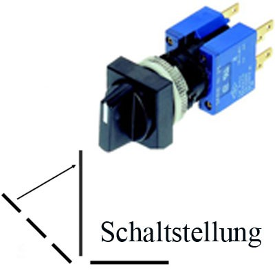 TH25 3-Stellungs-Drehschalter Schutzart IP40
