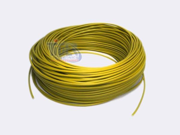 Drahtlitze 1x0,5mm², gelb, Rolle m. 100m, H05V-K,