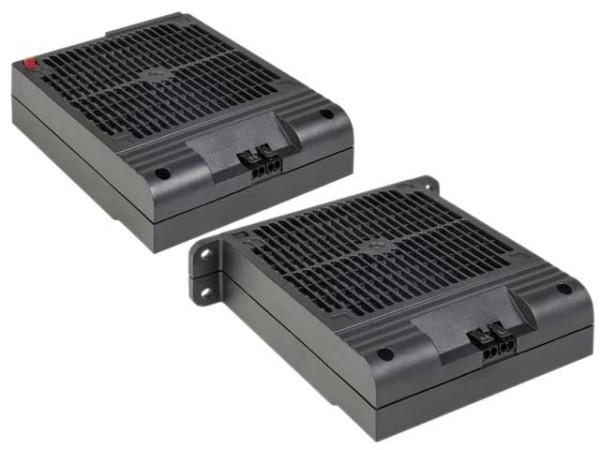 Platzsparendes Heizgebläse ohne Lüfter HVI 030 Dreh-Clip AC 120 V, 600 W