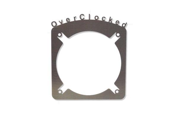 """Laser Cut """"Over Clocked"""" Abdeckung für 120mm Radiatoren Lüftergitter"""