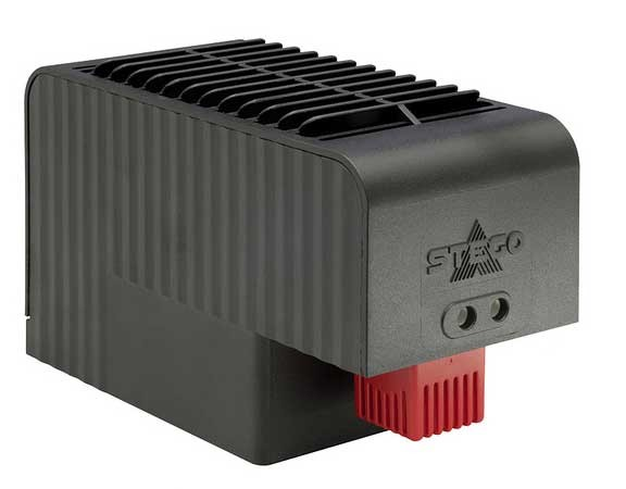 Kompaktes Hochleistungs-Heizgebäse mit integriertem Thermostat CSF 032 AC 120 V, 1000 W mit Clipbefestigung, 15 °C