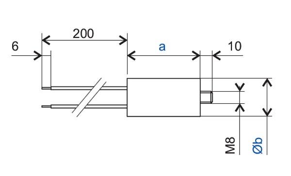 Betriebskondensator 4µF 400V AC