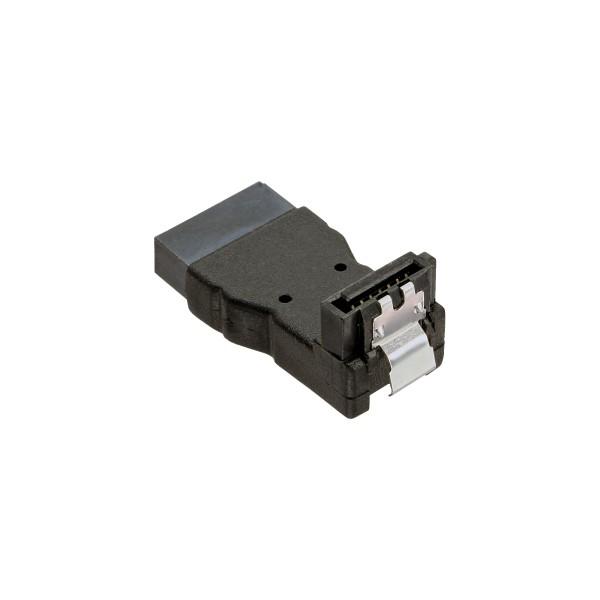 SATA Adapter Stecker / Buchse, gewinkelt nach unten