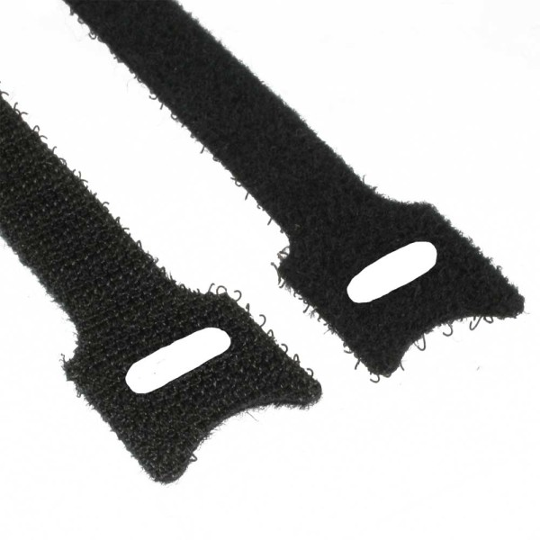 Kabelbinder 12x125mm, Klett-Verschluss, 10er, schwarz