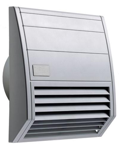 Wartungsfreundlicher Filterlüfter Serie FF 018, AC 230 V, 50 Hz, 102 m³/h, 176 x 176 mm