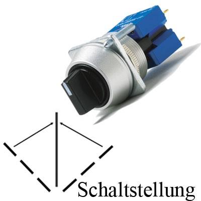 TH25 3-Stell.-Drehschalter, IP65, Ø=22,5