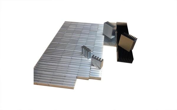 Kleinkühlkörper Aluminium Überhang verschiedene Größen