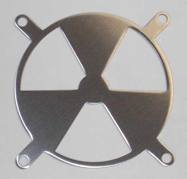 Lüftergitter Lasercut Radiation 80x80mm