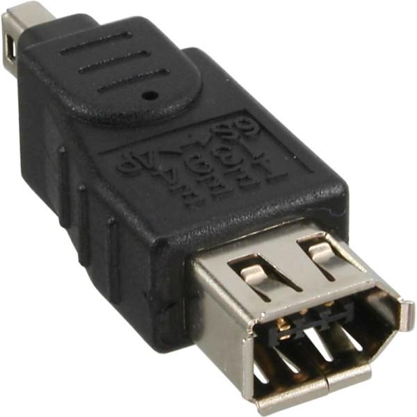 FireWire Adapter, 6pol Buchse/4pol Stecker, 34600