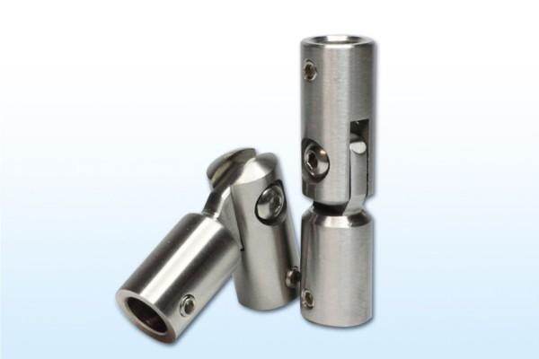 Winkelverbinder für 10mm Rundmaterial, Edelstahl