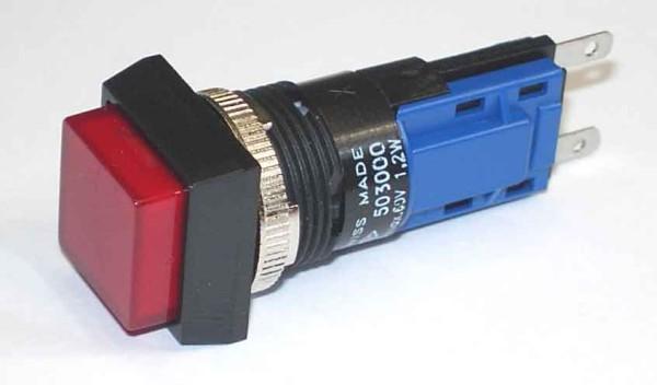 TH25 Signallampe, 18x18mm, Frontrahmen angeschrägt, Steckanschluss