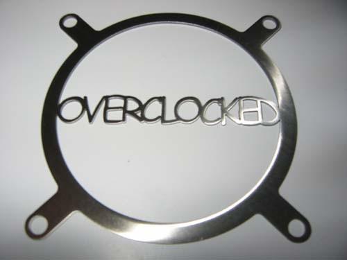 Lüftergitter Laser Cut Overclocked 80x80mm