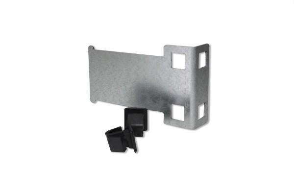 Kleingeräte Halterung inkl. 2 Befestigungsclips für 9,5x9,5mm Einbaumaß, Rack Mounting Set
