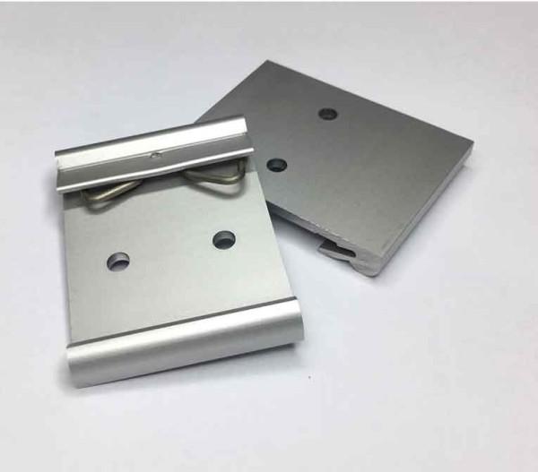 Hutschienen Clip Alu, 39mm breit, 2 X Bohrung Ø = 4mm