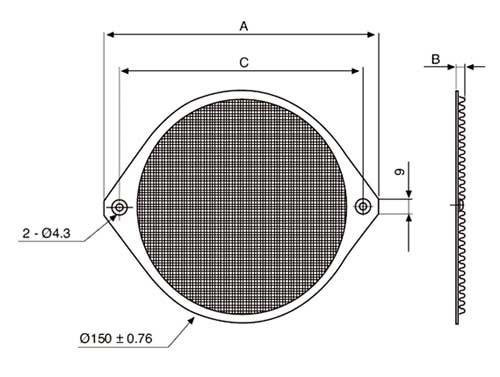 Aluminium-Schutzgitter Ø= 150mm
