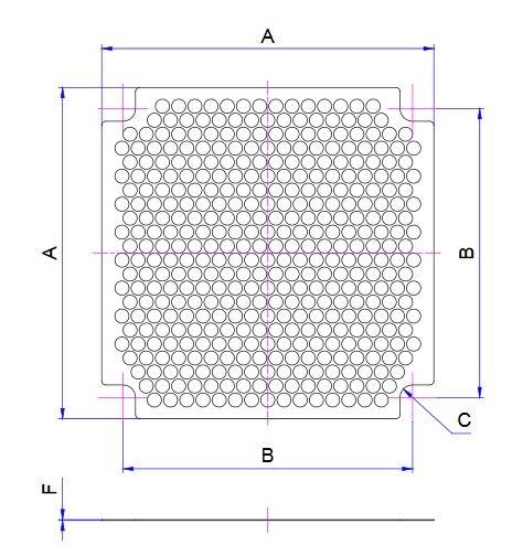 EMV-Abschirmblech für Lüfter 50x50mm