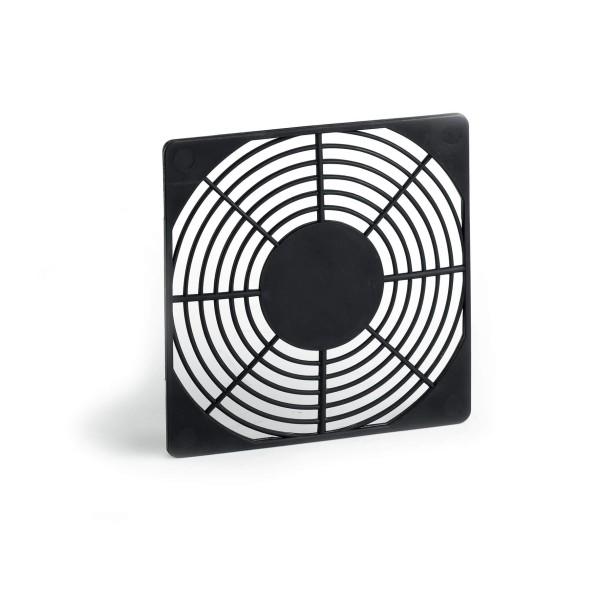 Snap-In Plastic Guard für Ventilatoren / Lüfter 80x80mm, schwarz