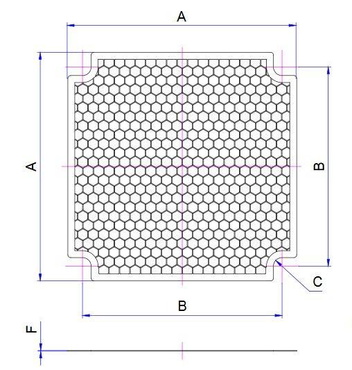 EMV-Abschirmblech für Lüfter 80x80mm