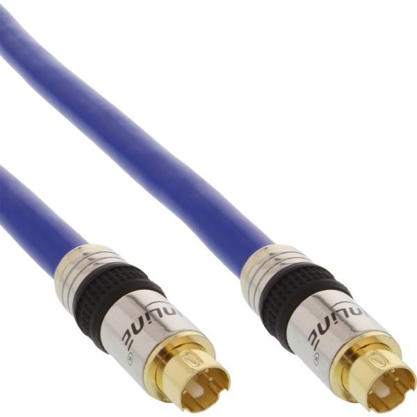 S-VHS Kabel, PREMIUM, vergoldete Stecker, 4pol mini DIN Stecker / Stecker, 10m
